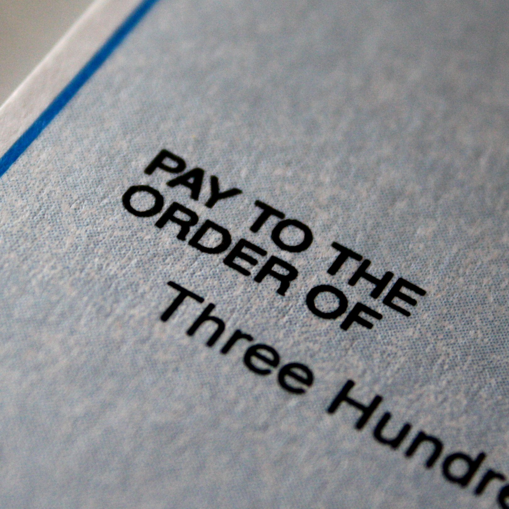 Pay to the Order of Check
